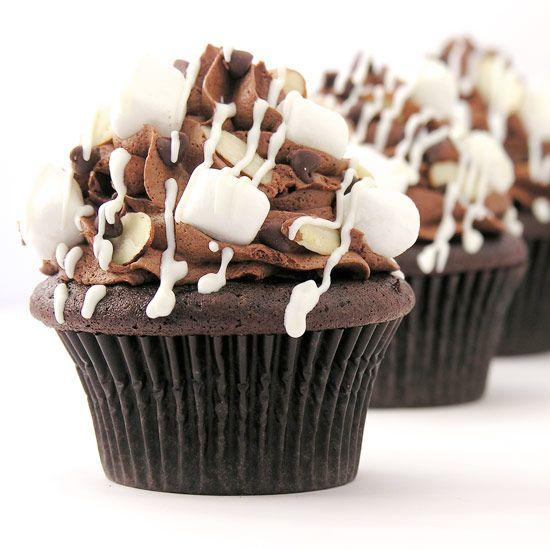 Rocky Road Cupcakes Recipe, baking, cupcake, recipes, daily, blog, chocolate, cupcakedailyblog