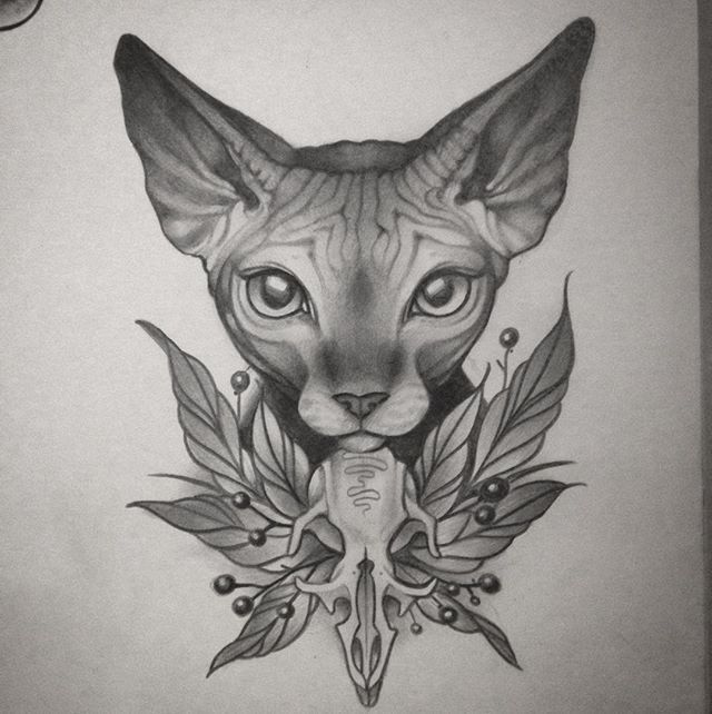 Meow meow meow #sphynx #sphynxcat #sphynxtattoo #art #artist #artwork #drawing #draw #illustration #customart #cat #catsofinstagram #pencil #artoftheday #artofinstagram #artsy #artgallery #wrinklypussy #hairlesscat #naked #babies