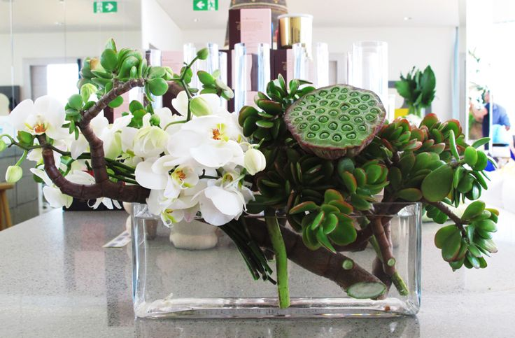 #White #Orchid #Tropical #Vase #Arrangement #PohoFlowers #Poho #Flowers #Home #Office