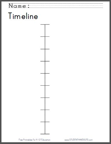 Stunning Sample Timeline Template For Kid Images  Resume Ideas