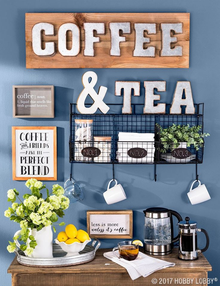 Be your own barista with a stylish at-home coffee and tea bar!