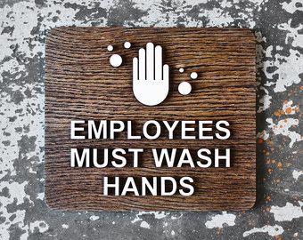 Wash hands sign | Etsy