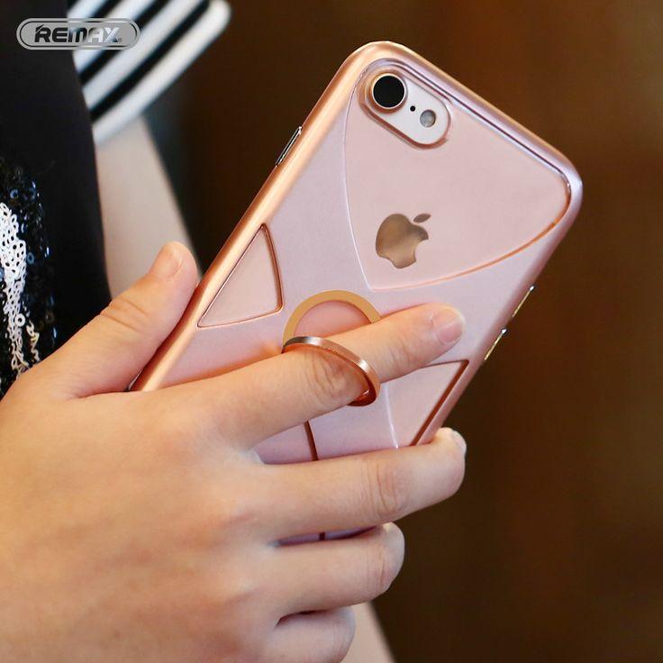 Handy fällen für apple iphone 7 case ursprüngliche remax tpu + pc rahmen + ring halter ständer phone case für iphone 7 plus abdeckung