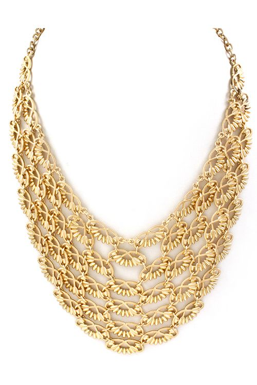 Ladell Necklace in Gold.
