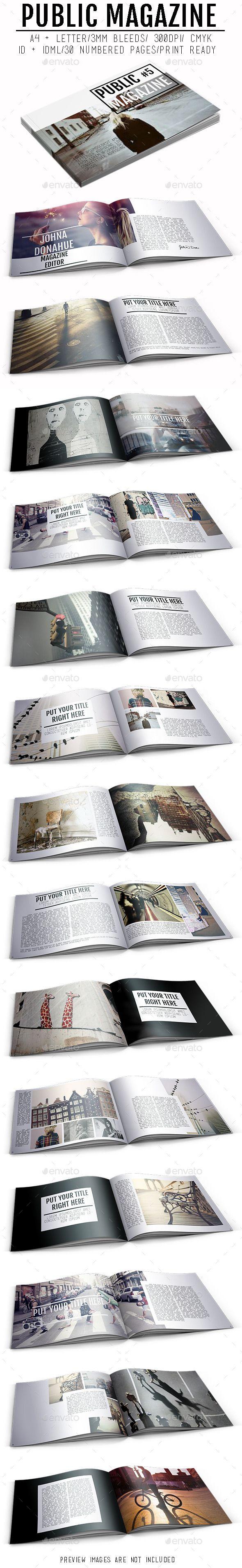 Magazine Template   #magazinetemplate   Download: http://graphicriver.net/item/public-magazine/9921786?ref=ksioks