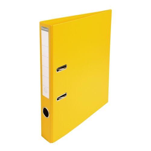 Classeur levier pour format a4 dos 50 mm jaune levier classeurs et jaune - Comment customiser un classeur ...