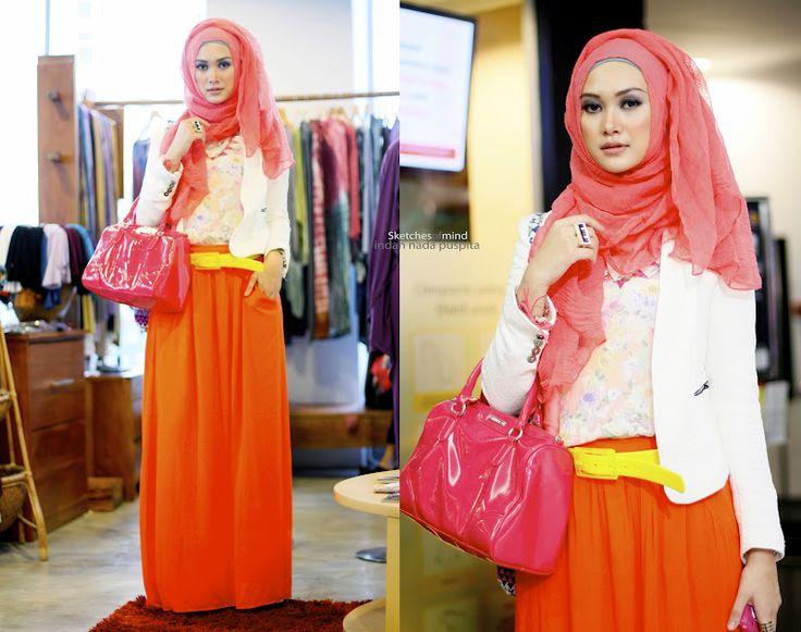 orange skirt! nice