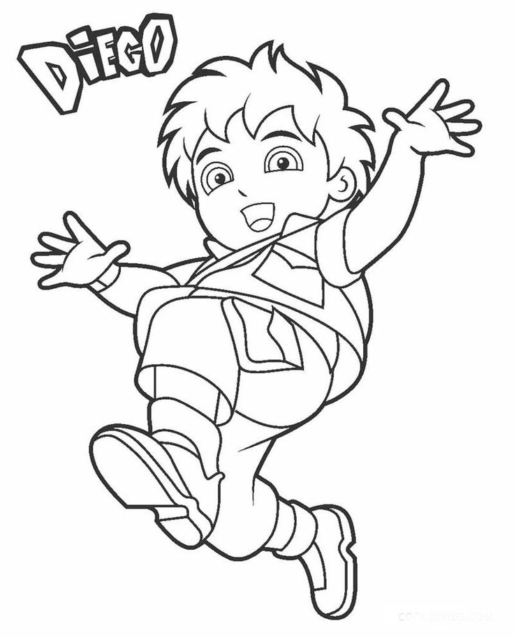 Diego coloring pages kids printable coloring pages