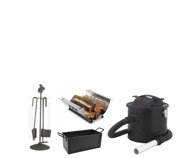 Pejsesæt, brændekurve, briketspande og askesuger. Klik og få et overblik på billigbrænde.nu.