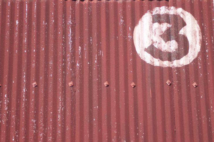 3 is the magic number in corrugated iron - Urban New Zealand. #Urban Decay #Corrugated Iron.