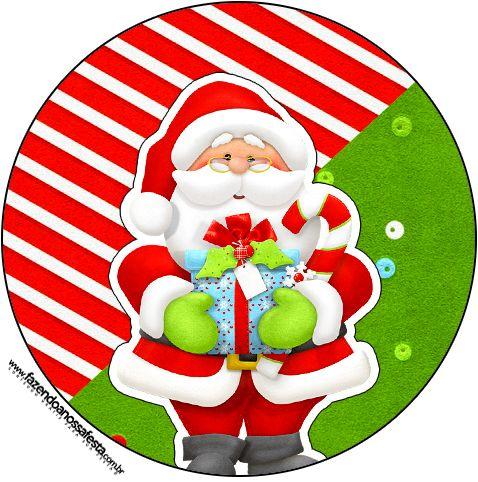 Latinhas,Toppers e Tubetes Natal Vermelho e Verde