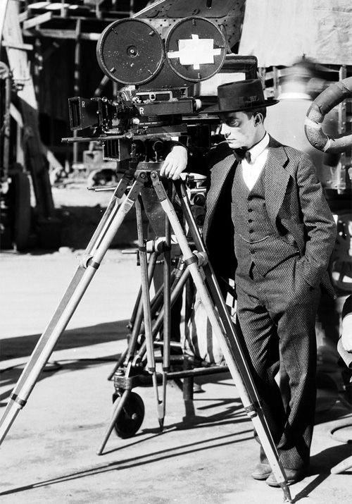Buster Keaton on the set of The Cameraman (1928)
