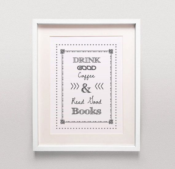 Coffee Shop Sign / Coffee Shop Art / Library by MagictreesDigital