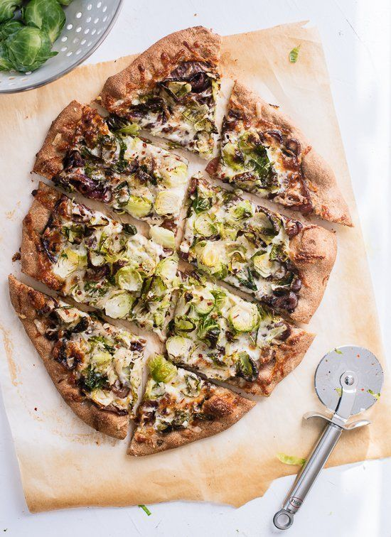 Brussels sprouts pizza.