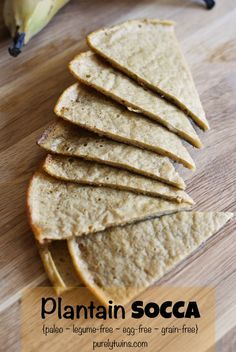 plantain socca slices