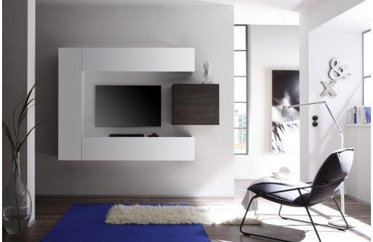 Ensemble meuble TV mural design Lia