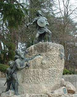 """Viriato - Viriatus (died 138 BC) was the most important leader of the Lusitanian people that resisted Roman expansion where the Roman province of Lusitania would be established (in the areas comprising most of Portugal and Galicia). Viriatus led the Lusitanians to several victories over the Romans between 147 BC and 139 BC before he was betrayed to the Romans and killed. Of him, Theodor Mommsen said """"It seemed as if, in that thoroughly prosaic age, one of the Homeric heroes had reappeared."""""""