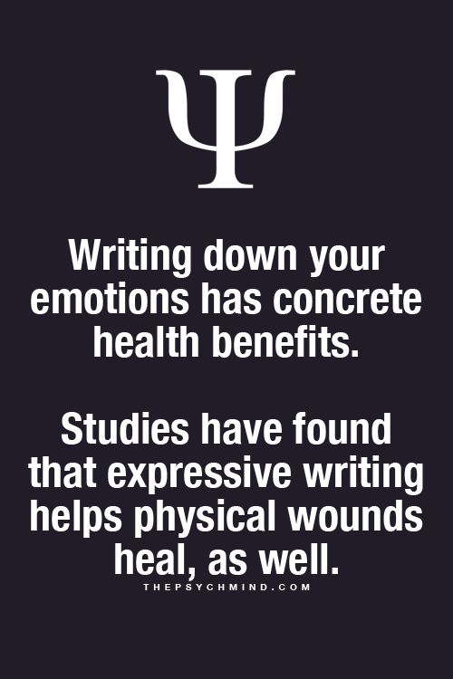 To write is to heal..