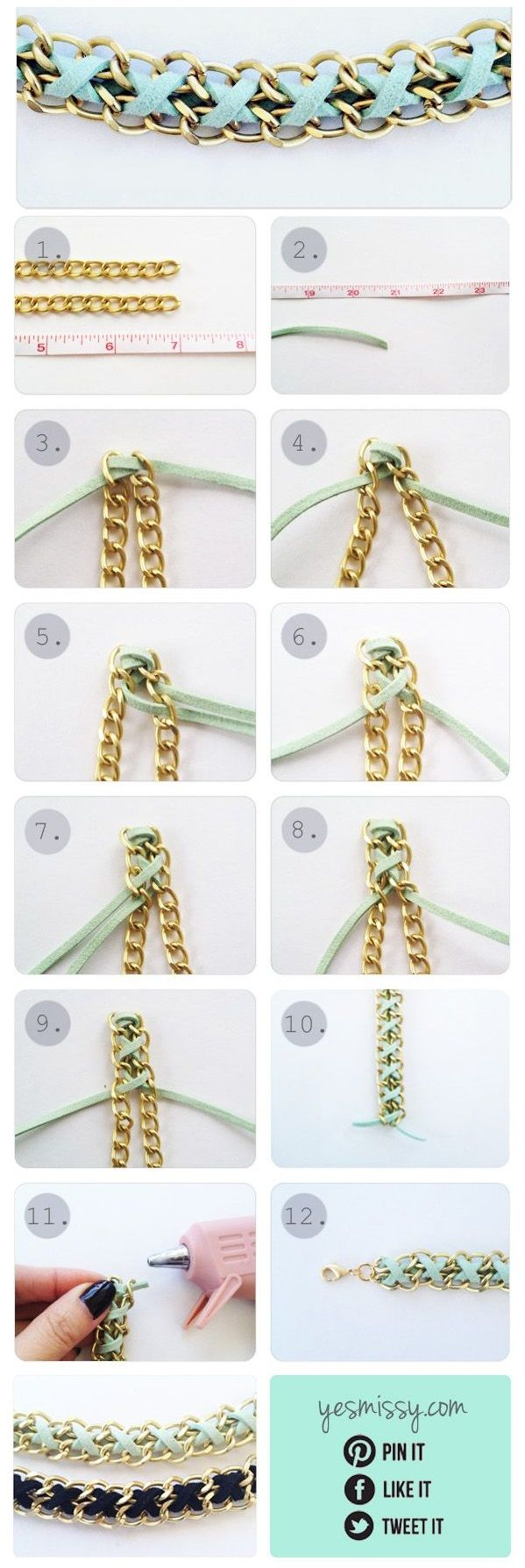 Chain bracelets are loved and adored by a lot of girls nowadays, but mostly they are all the same and this creates a desire in girls to look different. We