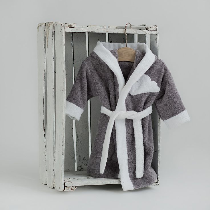 Kids robes Cloud gray white - Lounge robe Toddler bathrobe - Terry cloth boy's girl's hooded robe by CotandCot on Etsy