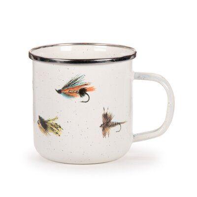 Loon Peak Quan Fishing Fly Coffee Mug Set Of 4 Tazas Porcelana Pinturas