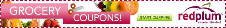 NEW List of RedPlum Grocery Coupons