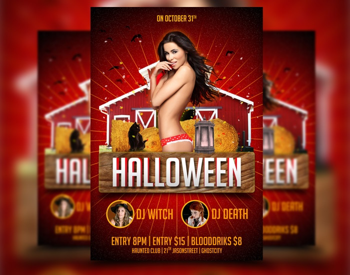 Halloween Flyer Template download at: http://awesomeflyer.com/portfolio-item/halloween-flyer-template-5/