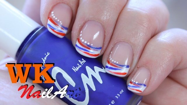 WK nagels met rood-wit-blauw NailArt on http://www.beautynailsfun.nl/2014/07/wk-nagels-met-rood-wit-blauw-nailart/