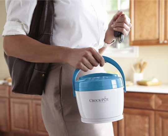 Too cute! Crock Pot Lunch Warmers, what a great way to bring hot soups to work, love this, available in 4 colors.
