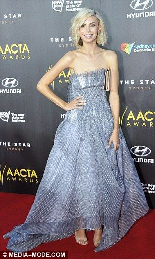 Flaring fashion: Abby Earl, Kerri-Anne Kennerley and Kat Stewart all opted for flowing fro...