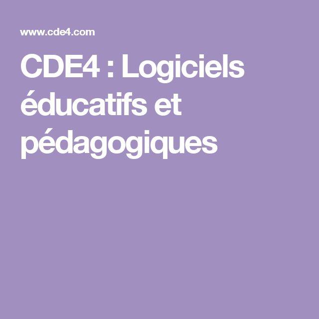 CDE4 : Logiciels éducatifs et pédagogiques