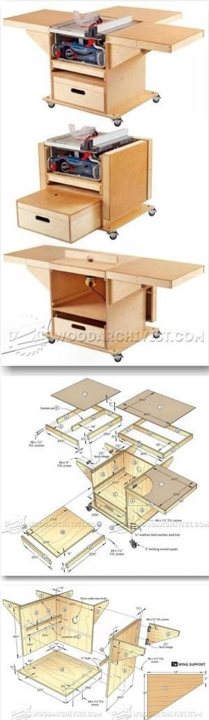 Table Saw and Router Workstation Plans - Table Saw Tips, Jigs and Fixtures   WoodArchivist.com by jewell