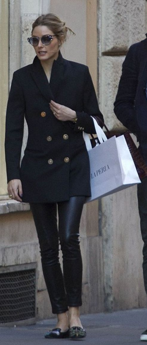 Olivia Palermo in Sunglasses – Fendi  Coat – Reiss  Purse – Hermes