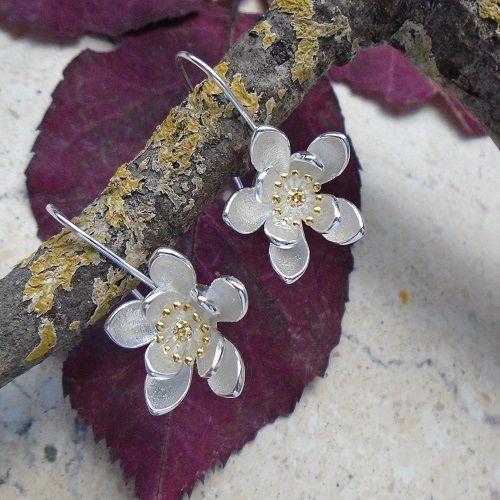 Lotusblüte, Blüte, Blume, Ohrringe, Ohrhänger, 925 Sterling Silber in Uhren & Schmuck, Echtschmuck, Ohrschmuck | eBay