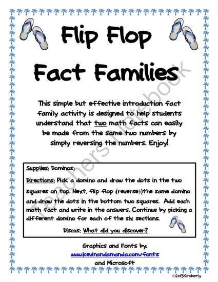 1000 Images About Math Fact Families Ideas On Pinterest