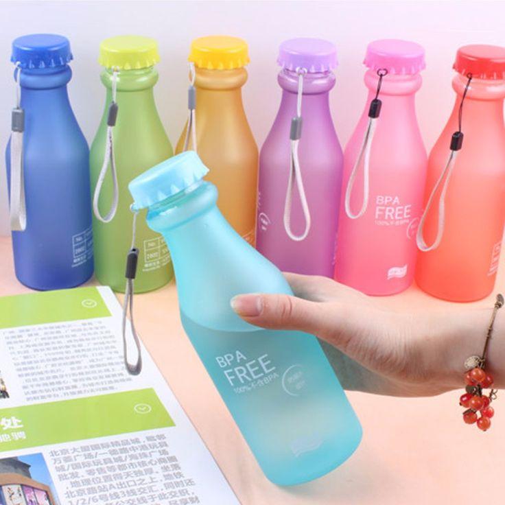 Venda quente 550 ML doces Colord portátil à prova de vazamento garrafa de água do esporte de plástico inquebrável xícara de suco de limão Drinkware BPA   40 em Garrafas de Água de Casa e Jardim no AliExpress.com | Alibaba Group
