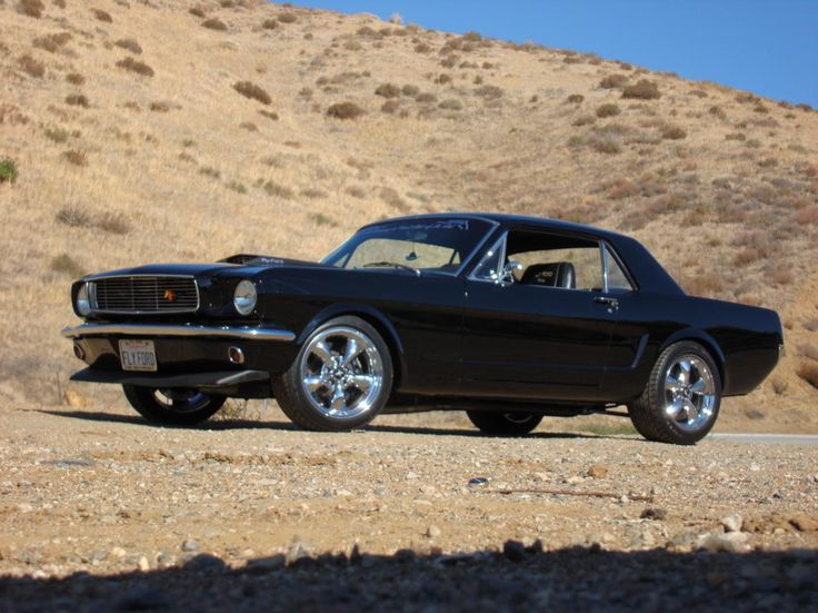 '66 Mustang in black (the only color for this car).