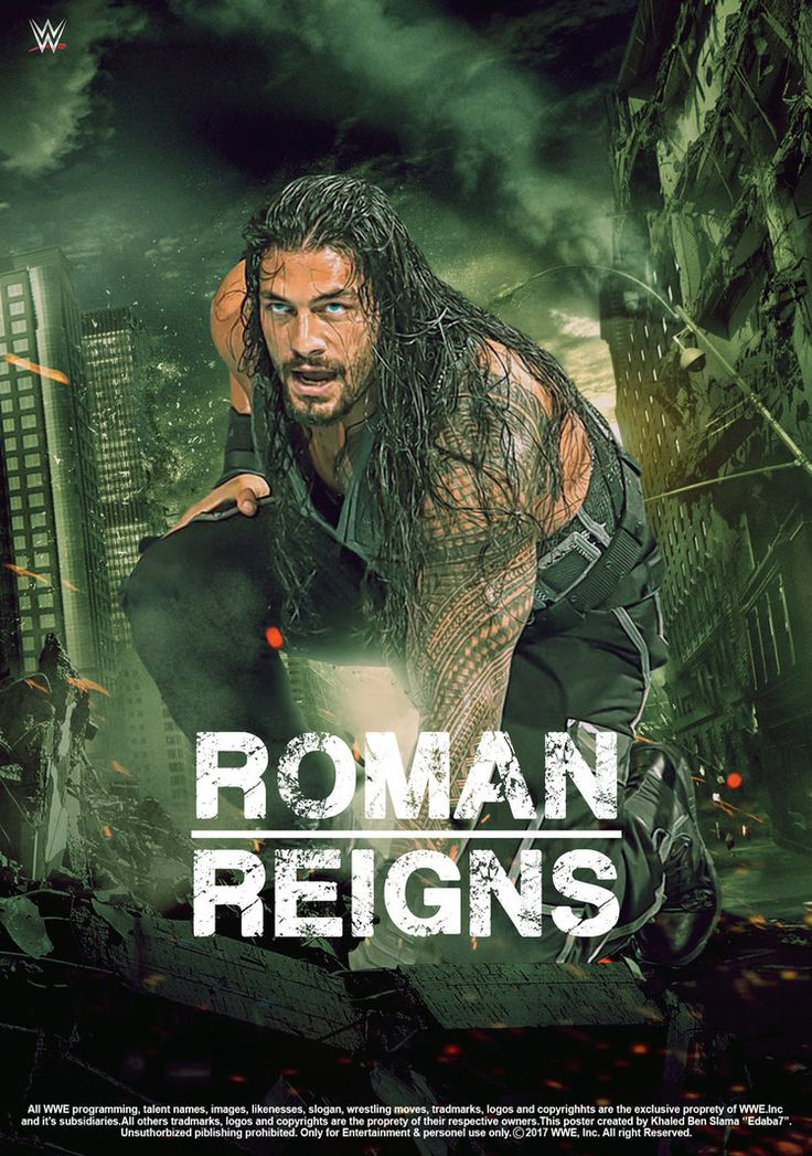 WWE Roman Reigns Poster 2017 by edaba7.deviantart.com on @DeviantArt