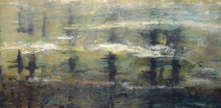 New Beginning 24x48 inches. Acrylic on canvas painting by Hanna MacNaughtan.