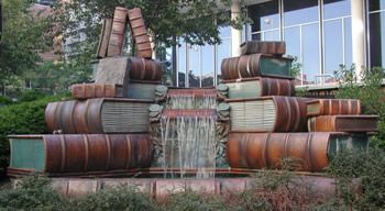 Image of Amelia Valerio Weinberg Memorial Fountain - must visit the library when we're in Cincinnati