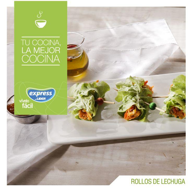 Rollos de lechuga. #Recetario #Receta #RecetarioExpress #Lider #Food #Foodporn…