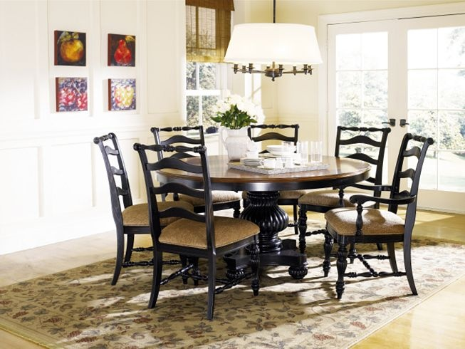 Dining Kitchen Furniture Ebony Round Table