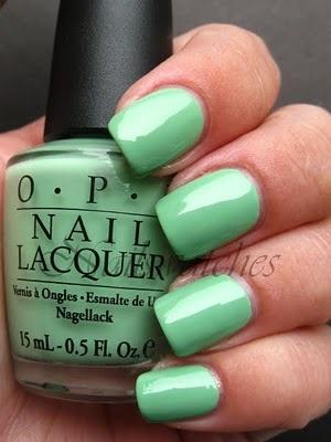 OPI Mint Green Nail Polish   LUUUX
