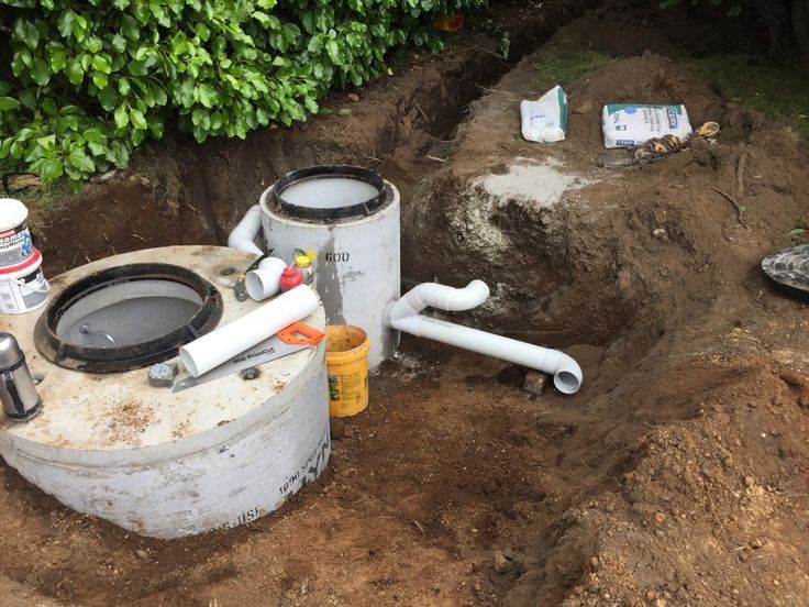 this photo displays a pump station wet well and a collection manhole, for an easier construction i have decided to have a larger space between the collection manhole and the wet well.