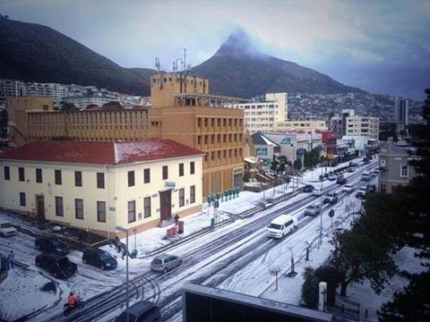 Snow sea point Cape Town June 2013