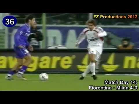 Manuel Rui Costa - 42 goals in Serie A (Fiorentina and Milan 1994-2006)