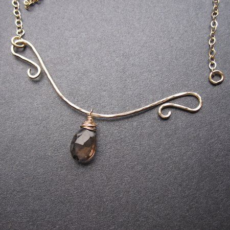 Sterling Silver V Neck Interchangeable Necklace - great concept! Love that it functions as a clasp.