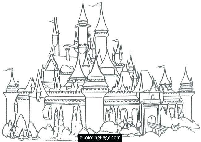 Pin On Disney Castle Coloring Page
