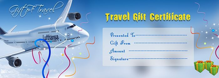 airline ticket gift certificate template free travel gift