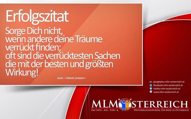 Erfolgszitat vom 17.05.2013 auf MLM-Österreich.at